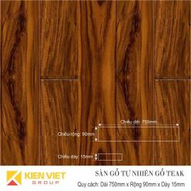 Sàn gỗ tự nhiên Teak 750x15mm