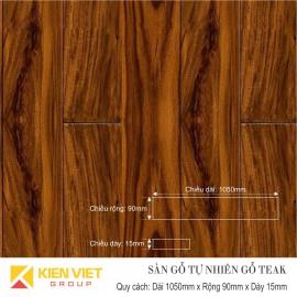 Sàn gỗ tự nhiên Teak 1050x15mm
