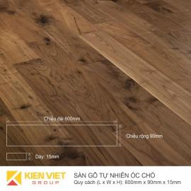 Sàn gỗ tự nhiên óc chó 600x15mm