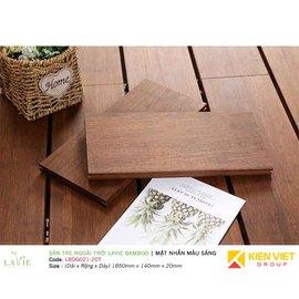 Sàn tre ngoài trời Lavie Bamboo mặt nhẵn màu sáng LBDG021-20T