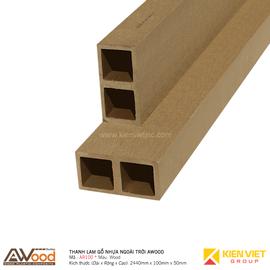 Thanh lam gỗ nhựa ngoài trời Awood AR100x50m Wood