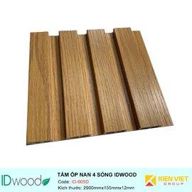 Tấm ốp nan 4 sóng ID Wood ID-005D | 155mmx12mm