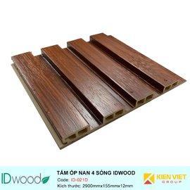 Tấm ốp nan 4 sóng ID Wood ID-021D | 155mmx12mm