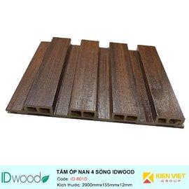 Tấm ốp nan 4 sóng ID Wood ID-801D | 155mmx12mm