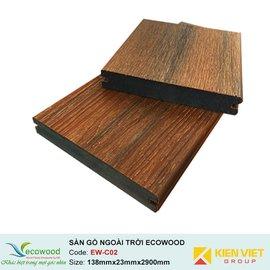 Sàn gỗ ngoài trời 2 lớp đặc EcoWood EW-C02 | 138x23mm